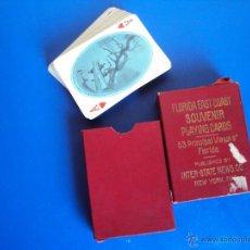 Barajas de cartas: (PA-1057)ANTIGUA BARAJA DE POKER AMERICANA,COMPLETA,FLORIDA EAST COAST. Lote 51768926