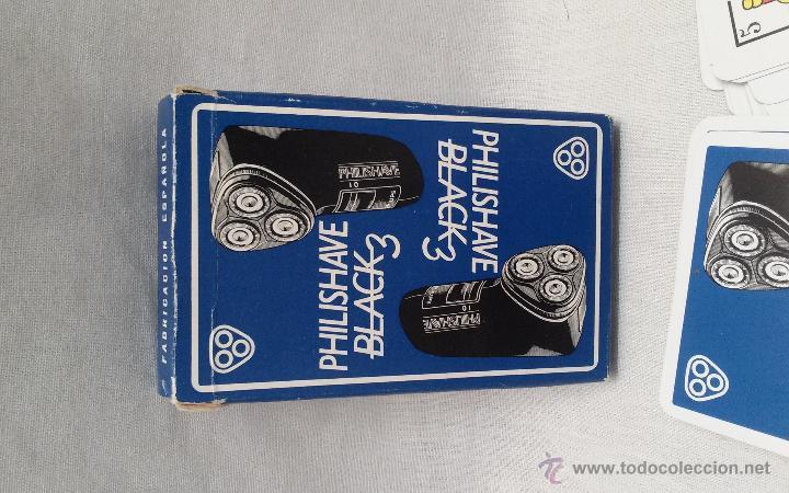 Barajas de cartas: BARAJA DE CARTAS CLASICA HERACLIO FOURNIER PUBLICIDAD DE PHILISHAVE BLACK 3 - Foto 2 - 51788170