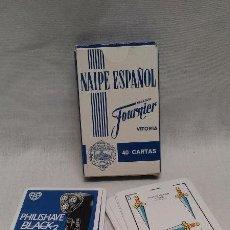 Barajas de cartas: BARAJA DE CARTAS CLASICA HERACLIO FOURNIER PUBLICIDAD DE PHILISHAVE BLACK 3. Lote 51788170