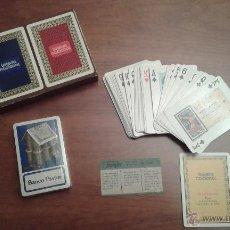 Barajas de cartas: CAJA CON DOS BARAJAS DE CARTAS NAIPES PUBLICIDAD LOTERIA NACIONAL. Lote 51810363
