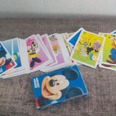 Barajas de cartas: BARAJA DE CARTAS INFANTIL MICKEY MOUSE. LA BATALLA. FOURNIER. COMPLETA, 33 NAIPES. DYSNEY. Lote 51920847