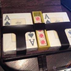 Barajas de cartas: SET DOS BARAJAS DE POKER SIN EXTRENAR. Lote 52023584