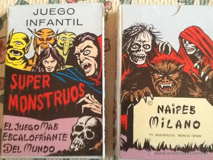 SUPER MONSTRUOS BARAJA NUEVA NAIPES MILANO (Juguetes y Juegos - Cartas y Naipes - Barajas Infantiles)