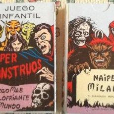 Barajas de cartas: SUPER MONSTRUOS BARAJA NUEVA NAIPES MILANO. Lote 181790963