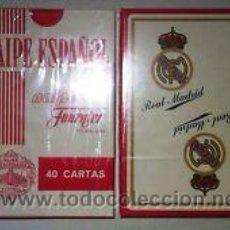 Barajas de cartas: A ESTRENAR-BARAJA ESPAÑOLA *CLUB FUTBOL REAL MADRID* (H. FOURNIER) Nº 1 CUARENTA CARTAS. Lote 106096202