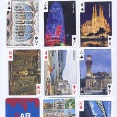 Barajas de cartas: LOTE 4 BARAJAS DE POKER TURISTICAS DE BARCELONA, MADRID, ANDALUCIA Y CANARIAS. Lote 52601360