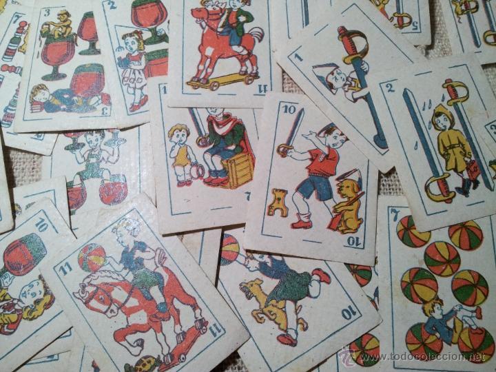 2 BARAJAS.!!!!...MINI BARAJA INFANTIL ANTIGUA AÑOS 30 - JUEGO DE NAIPES , 6 X 4,4 CM..INCOMPLETAS (Juguetes y Juegos - Cartas y Naipes - Barajas Infantiles)
