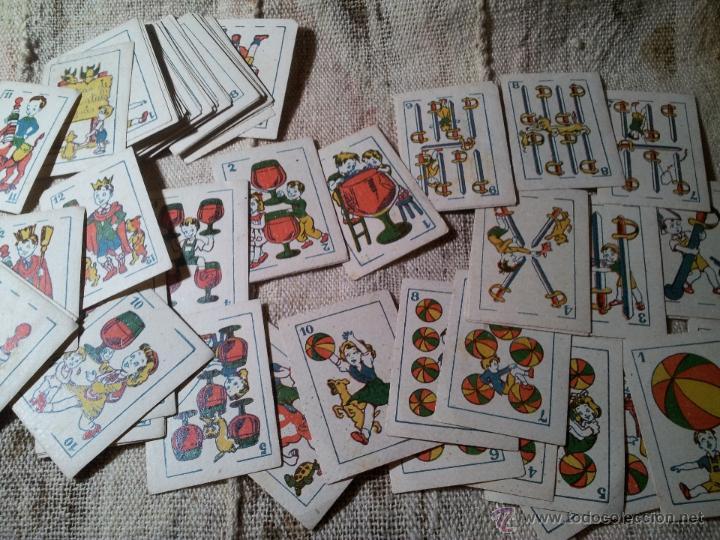 Barajas de cartas: 2 barajas.!!!!...MINI BARAJA INFANTIL ANTIGUA AÑOS 30 - JUEGO DE NAIPES , 6 X 4,4 cm..incompletas - Foto 3 - 52736978