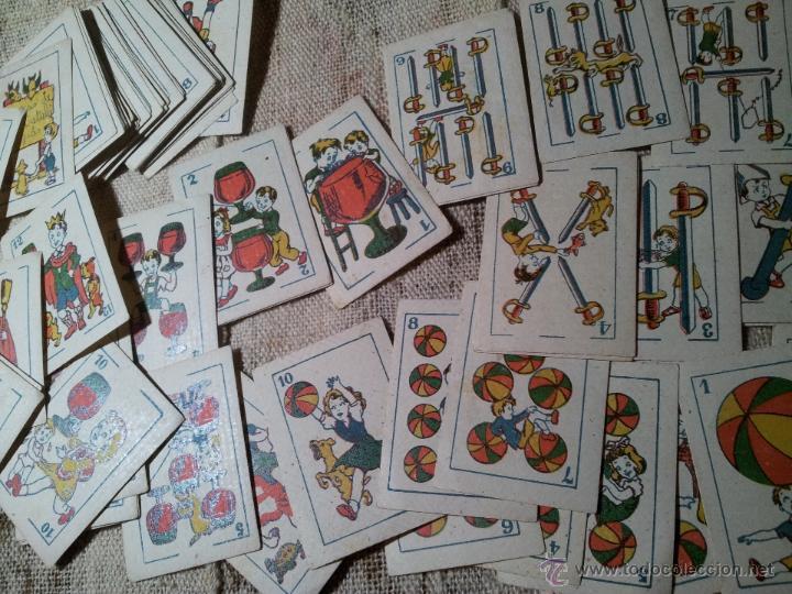 Barajas de cartas: 2 barajas.!!!!...MINI BARAJA INFANTIL ANTIGUA AÑOS 30 - JUEGO DE NAIPES , 6 X 4,4 cm..incompletas - Foto 4 - 52736978