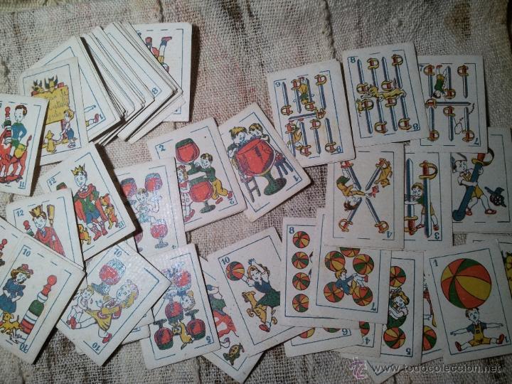 Barajas de cartas: 2 barajas.!!!!...MINI BARAJA INFANTIL ANTIGUA AÑOS 30 - JUEGO DE NAIPES , 6 X 4,4 cm..incompletas - Foto 5 - 52736978