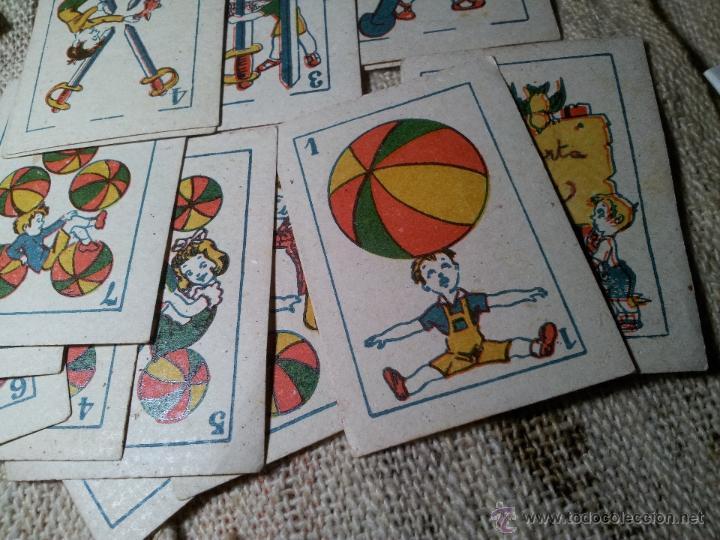 Barajas de cartas: 2 barajas.!!!!...MINI BARAJA INFANTIL ANTIGUA AÑOS 30 - JUEGO DE NAIPES , 6 X 4,4 cm..incompletas - Foto 6 - 52736978