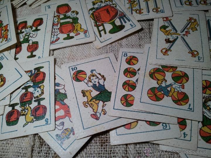 Barajas de cartas: 2 barajas.!!!!...MINI BARAJA INFANTIL ANTIGUA AÑOS 30 - JUEGO DE NAIPES , 6 X 4,4 cm..incompletas - Foto 8 - 52736978
