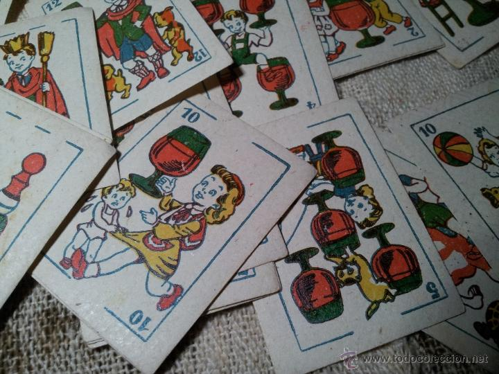 Barajas de cartas: 2 barajas.!!!!...MINI BARAJA INFANTIL ANTIGUA AÑOS 30 - JUEGO DE NAIPES , 6 X 4,4 cm..incompletas - Foto 9 - 52736978
