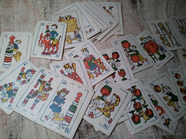 Barajas de cartas: 2 barajas.!!!!...MINI BARAJA INFANTIL ANTIGUA AÑOS 30 - JUEGO DE NAIPES , 6 X 4,4 cm..incompletas - Foto 10 - 52736978