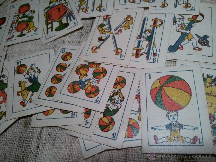 Barajas de cartas: 2 barajas.!!!!...MINI BARAJA INFANTIL ANTIGUA AÑOS 30 - JUEGO DE NAIPES , 6 X 4,4 cm..incompletas - Foto 11 - 52736978