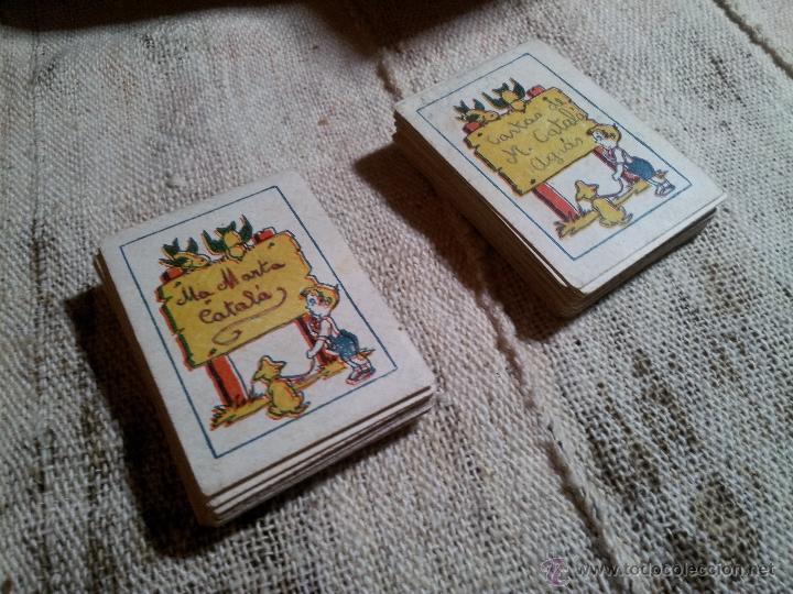 Barajas de cartas: 2 barajas.!!!!...MINI BARAJA INFANTIL ANTIGUA AÑOS 30 - JUEGO DE NAIPES , 6 X 4,4 cm..incompletas - Foto 12 - 52736978