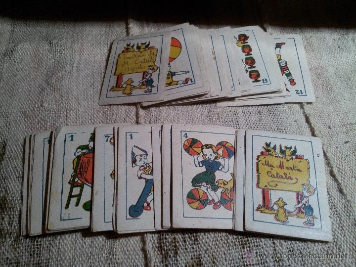 Barajas de cartas: 2 barajas.!!!!...MINI BARAJA INFANTIL ANTIGUA AÑOS 30 - JUEGO DE NAIPES , 6 X 4,4 cm..incompletas - Foto 13 - 52736978