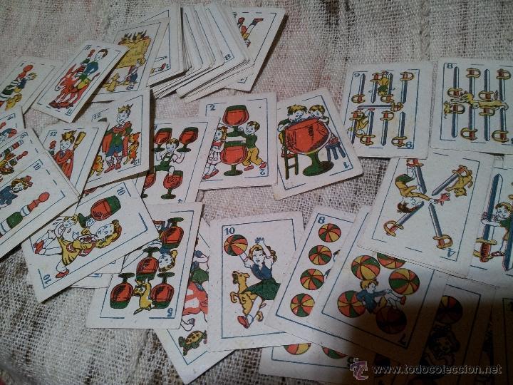 Barajas de cartas: 2 barajas.!!!!...MINI BARAJA INFANTIL ANTIGUA AÑOS 30 - JUEGO DE NAIPES , 6 X 4,4 cm..incompletas - Foto 14 - 52736978