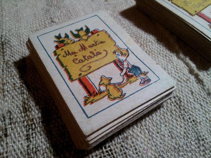 Barajas de cartas: 2 barajas.!!!!...MINI BARAJA INFANTIL ANTIGUA AÑOS 30 - JUEGO DE NAIPES , 6 X 4,4 cm..incompletas - Foto 18 - 52736978