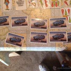 Barajas de cartas: ANTIGUO JUEGO DE CARTAS ESPAÑOLAS CON COCHE MARCA SEAT RITMO EN LA PORTADA AÑOS 60-70. Lote 52754929