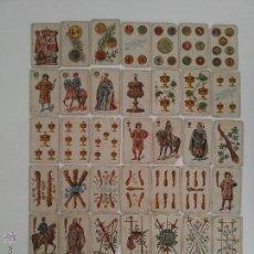 Barajas de cartas: IMPRESIONANTE BARAJA DE NAIPES / CARTAS DE CHOCOLATE ANGELICAL BARCELONA AÑO 1896 COMPLETA. Lote 52762905