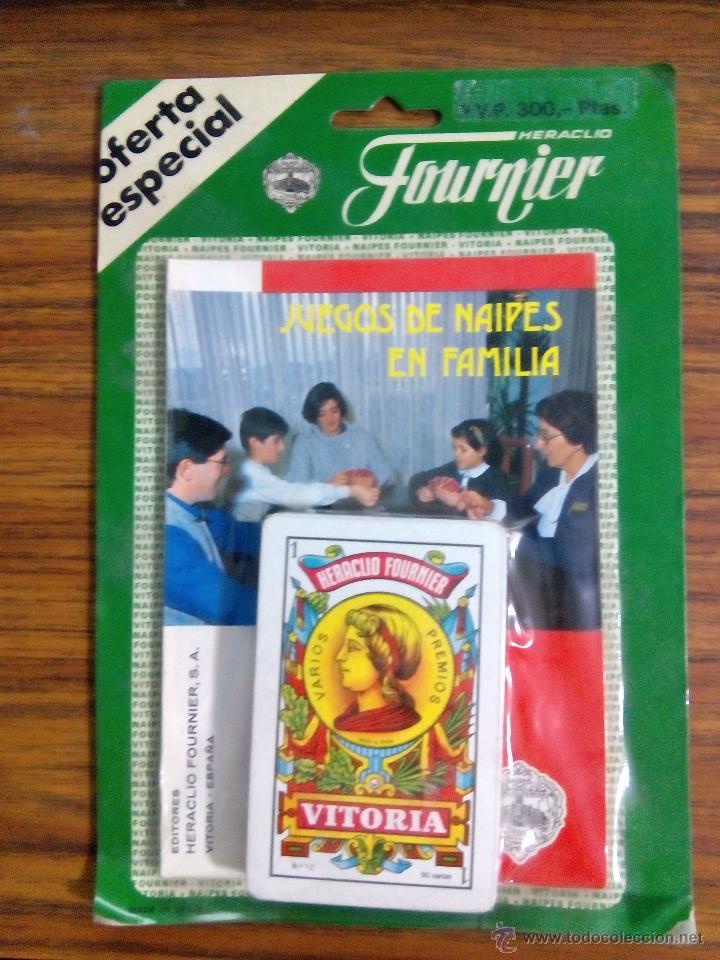 LIBRO DE JUEGOS DE NAIPES EN FAMILIA CON BARAJA 50 CARTAS FOURNIER AÑOS 80 (Juguetes y Juegos - Cartas y Naipes - Baraja Española)
