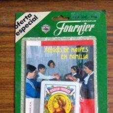 Barajas de cartas: LIBRO DE JUEGOS DE NAIPES EN FAMILIA CON BARAJA 50 CARTAS FOURNIER AÑOS 80. Lote 52823853