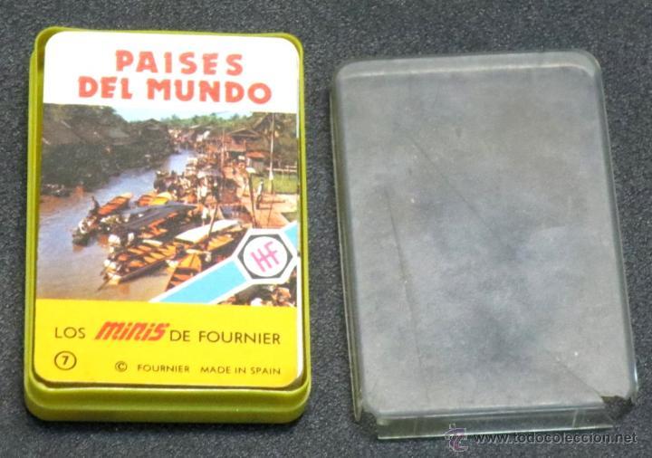 BARAJA PAÍSES DEL MUNDO LOS MINIS DE FOURNIER AÑO 1978 COMPLETA (Juguetes y Juegos - Cartas y Naipes - Barajas Infantiles)