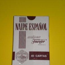Barajas de cartas: BARAJA PRECINTADA HERACLIO FOURNIER ( VITORIA-SPAIN ) , CON PUBLICIDAD DEL BRANDY SOBERANO. Lote 53125544