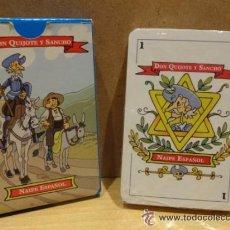 Barajas de cartas: BARAJA ESPAÑOLA-NAIPE ESPAÑOL DON QUIJOTE Y SANCHO. Lote 106095391