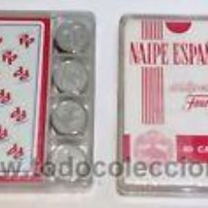 Barajas de cartas: BARAJA ESPAÑOLA FOURNIER-REVERSO=PARTIDO POPULAR (EN ESTUCHE + AMARRACOS-)A ESTRENAR. Lote 98892319