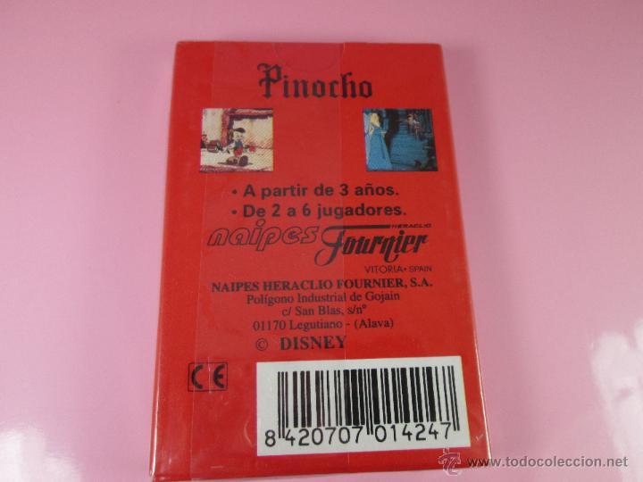 Barajas de cartas: (C)-BARAJA-HERACLIO FOURNIER-PINOCHO-DISNEY-NUEVA-ANTIGUA-PRECINTADA-VER FOTOS - Foto 4 - 53300036