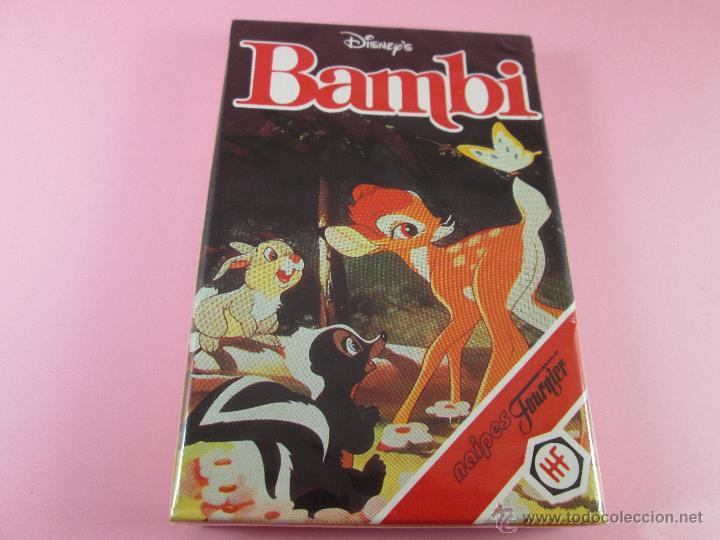 (C)-BARAJA-HERACLIO FOURNIER-BAMBY-DISNEY-NUEVA-ANTIGUA-PRECINTADA-VER FOTOS (Juguetes y Juegos - Cartas y Naipes - Barajas Infantiles)