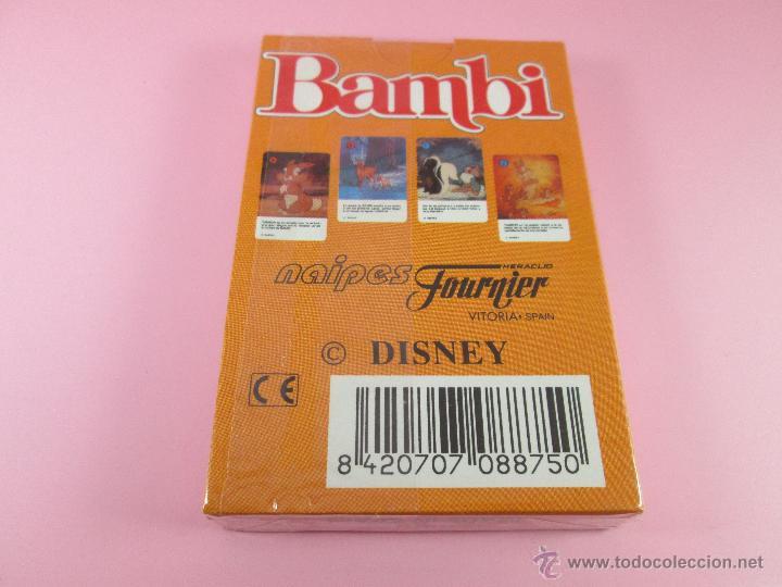 Barajas de cartas: (C)-BARAJA-HERACLIO FOURNIER-BAMBY-DISNEY-NUEVA-ANTIGUA-PRECINTADA-VER FOTOS - Foto 4 - 53309383