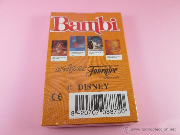 Barajas de cartas: (C)-BARAJA-HERACLIO FOURNIER-BAMBY-DISNEY-NUEVA-ANTIGUA-PRECINTADA-VER FOTOS - Foto 7 - 53309383