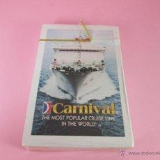 Barajas de cartas: (C)-BARAJA/CARTAS/NAIPES-POKER-NUEVO-CRUCEROS CARNIVAL-VER FOTOS.. Lote 43436818