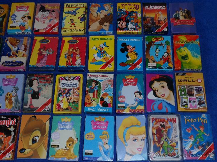 Barajas de cartas: Lote de 58 barajas Walt Disney - Fournier ¡Impecables! - Foto 3 - 53464351