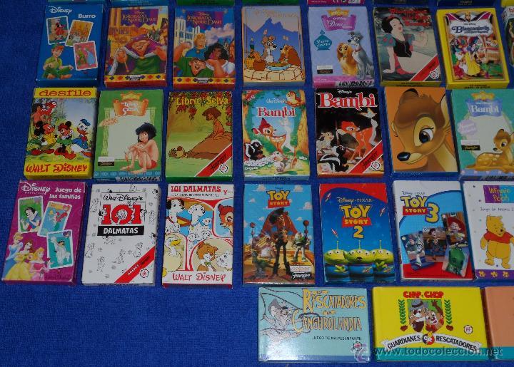 Barajas de cartas: Lote de 58 barajas Walt Disney - Fournier ¡Impecables! - Foto 4 - 53464351