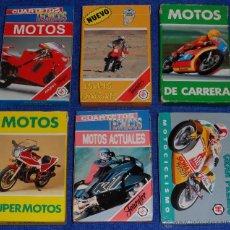 Barajas de cartas: LOTE DE 6 BARAJAS DE MOTOS Y MOTOCICLISMO - FOURNIER ¡IMPECABLES!. Lote 53464372