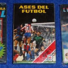 Barajas de cartas: LOTE DE3 BARAJAS DE FUTBOL - FOURNIER ¡IMPECABLES!. Lote 53464377