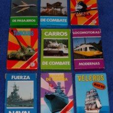 Barajas de cartas: LOTE DE 9 BARAJAS DE AVIONES, TANQUES, BARCOS - FOURNIER ¡IMPECABLES!. Lote 53464381