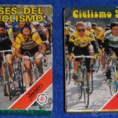 Barajas de cartas: LOTE DE 2 BARAJAS DE CICLISMO - FOURNIER ¡IMPECABLES!. Lote 53464388