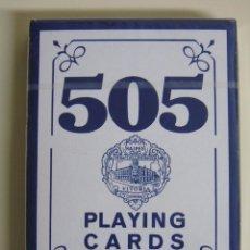 Barajas de cartas: BARAJA DE CARTAS ESPAÑOLA. FOURNIER. CLÁSICA. ESTAMPADO AZUL. PRECINTADA. Lote 53607538