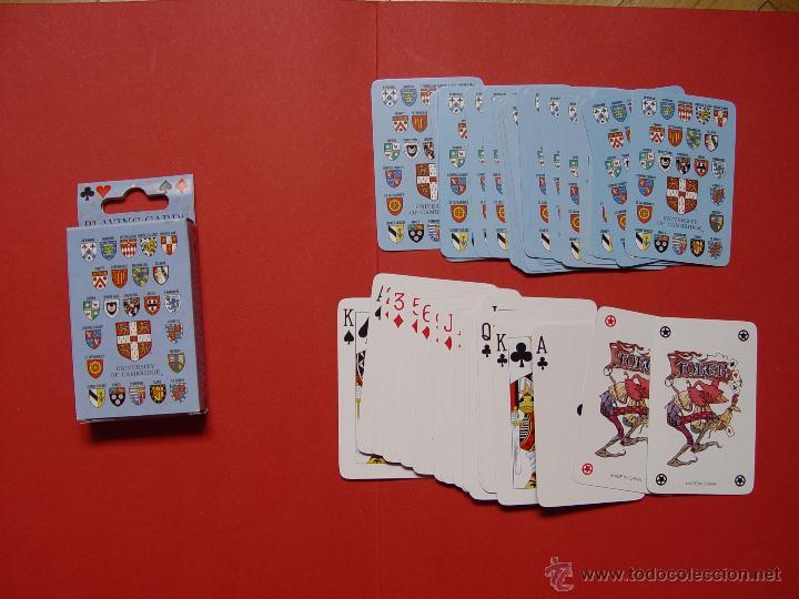 BARAJA POKER. UNIVERSIDAD CAMBRIDGE ¡COMO NUEVA! (Juguetes y Juegos - Cartas y Naipes - Barajas de Póker)