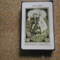 Barajas de cartas: BARAJA DE CARTAS ESPAÑOLA DE COMAS PARTIDO CARLISTA BARAJACARTAS-150. Lote 53744157