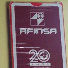 Barajas de cartas: BARAJA DE CARTAS (NAIPES ESPAÑOL (NAIPES COMAS) PUBLICIDAD AFINSA (50 CARTAS). Lote 53815836