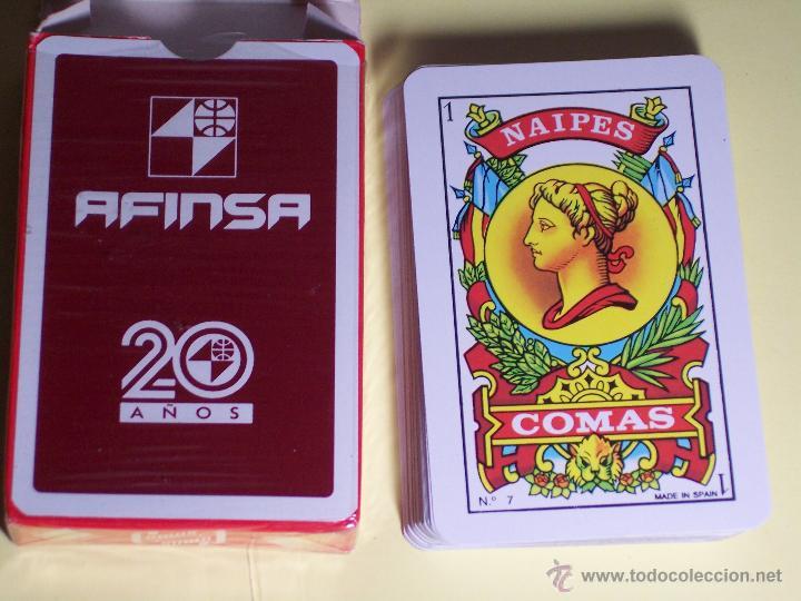 Barajas de cartas: BARAJA DE CARTAS (NAIPES ESPAÑOL (NAIPES COMAS) PUBLICIDAD AFINSA (50 CARTAS) - Foto 3 - 53815836