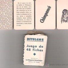 Barajas de cartas: BARAJA EL DIVULGON, JUEGO DE 48 FICHAS + FOLLETO EXPLICATIVO. JUAN ROURA 1940. LA HISPANO AMERICANA. Lote 53836936