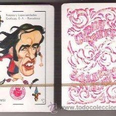 Baralhos de cartas: BARAJA HUMORISTICO DEPORTIVA DE 1975, CARICATURAS DE FUTBOLISTAS. EDICIONES AMAIKA. PRECINTADA.. Lote 206194323