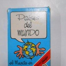 Barajas de cartas: BARAJA DE CARTAS PAISES DEL MUNDO. EL MUNDO EN TUS MANOS. FOURNIER. 33 CARTAS. TDKC37. Lote 53855240